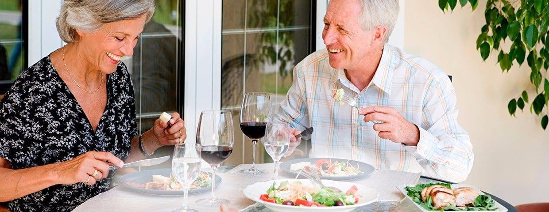 Senior Couple Dining