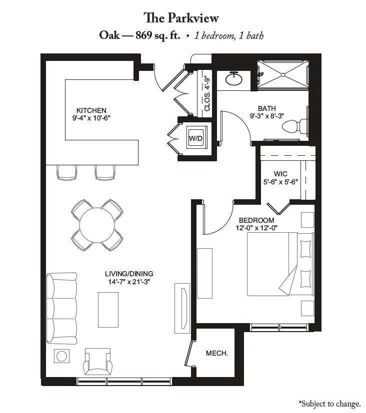 Your Minimalist Dream The Oak Apartment Home Amazing One Bedroom Apartment Plan Minimalist
