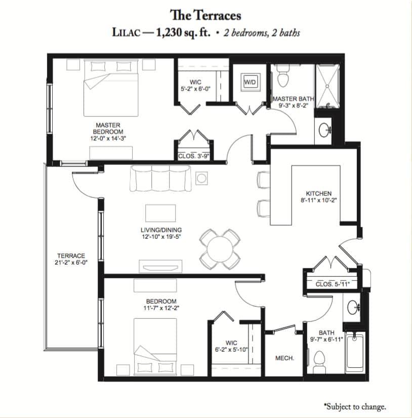 Lilac Floor Plan