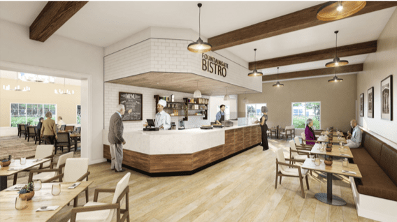 Clubhouse Bistro Rendering